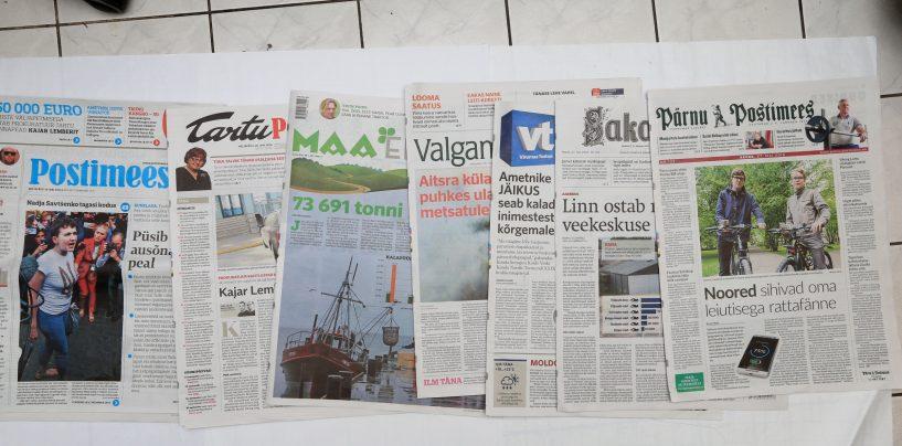 Päevalehtede tiraažid langesid märtsis kokku 7,9 protsenti