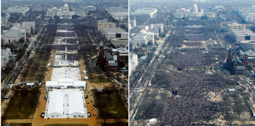 Trumpi sõnul valetas meedia publiku arvu kohta tema ametisseastumisel