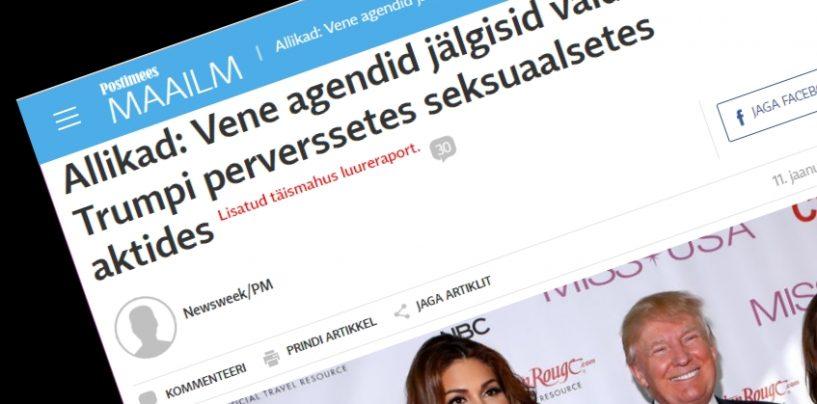 Eesti meedia läks luureraportina esitatava libauudise õnge