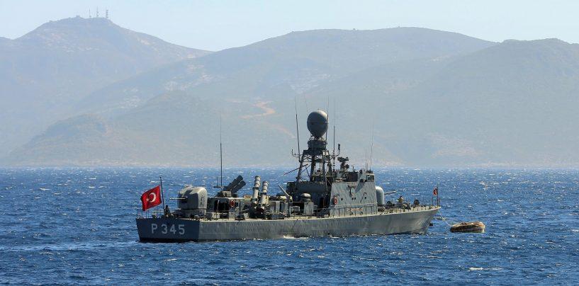 Türgi sõjalaevad tungisid Kreeka vetesse