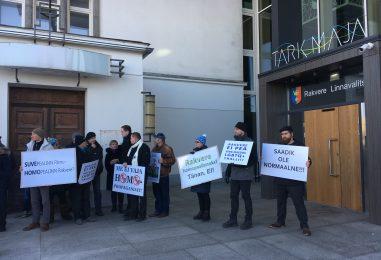 FOTOD: Rakveres piketeeriti homopropaganda rahastamise vastu linnaeelarvest
