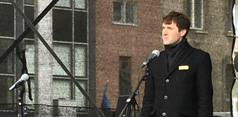 Martin Helme Rail Balticu vastasel meeleavaldusel: ainus, mis liigutab poliitikuid, on hirm valimistel peksa saada!