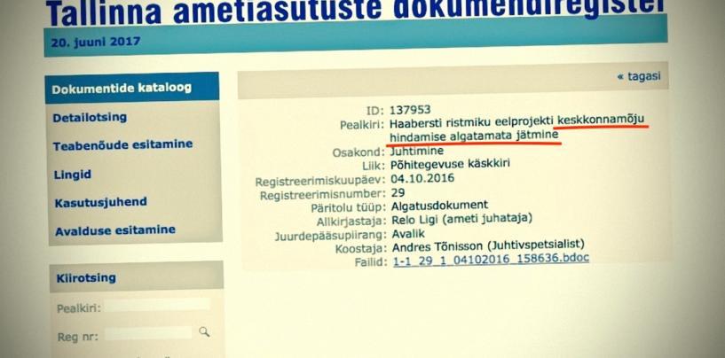 Tallinna Keskkonnaamet või hoopis Loodusrüüste amet?