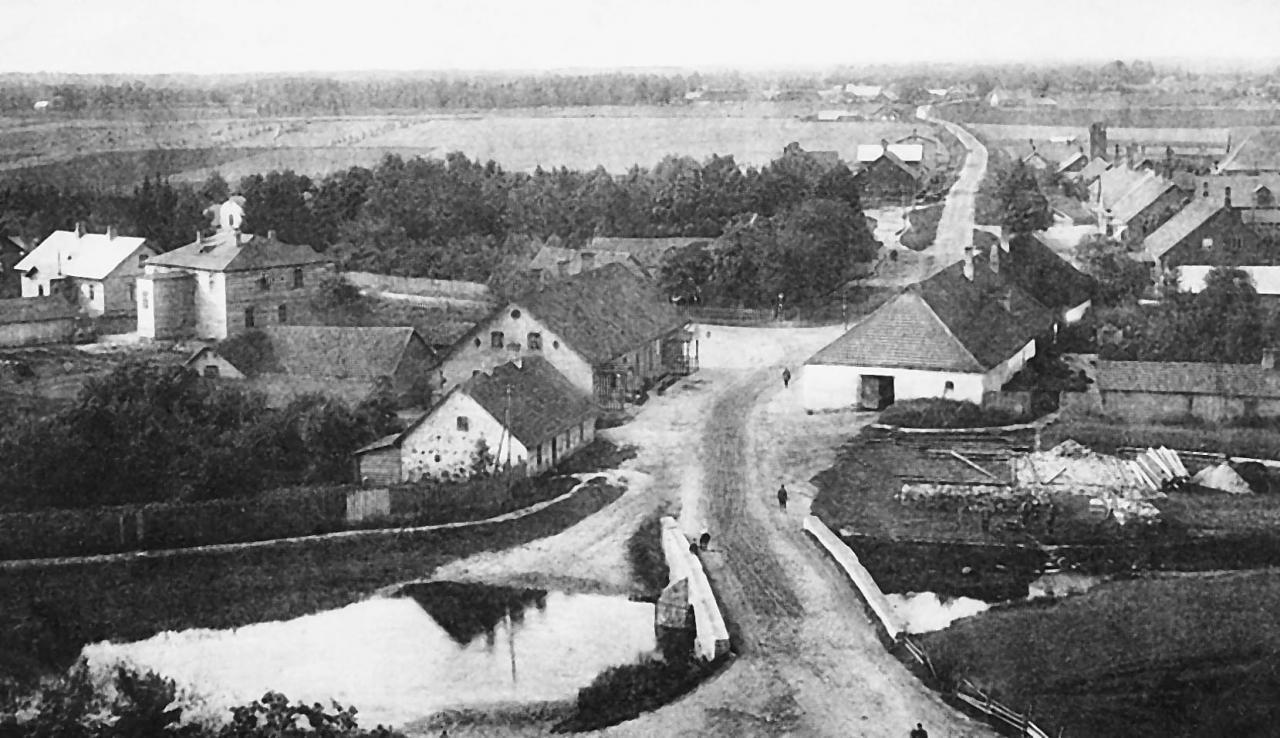 Vaade kiriku tornist 1915. aastal.