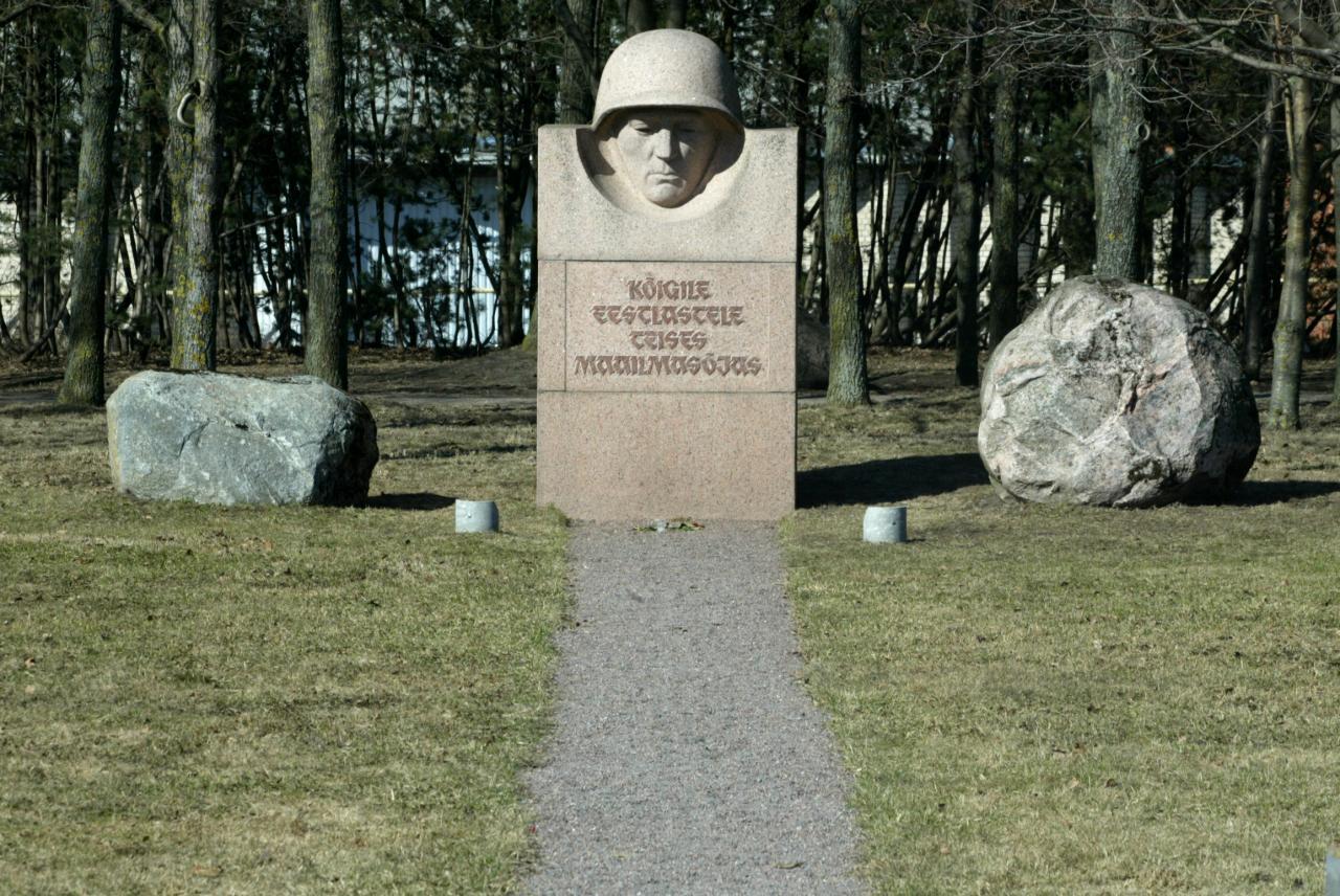 Mälestusmärk sõjas osalenutele Tallinnas