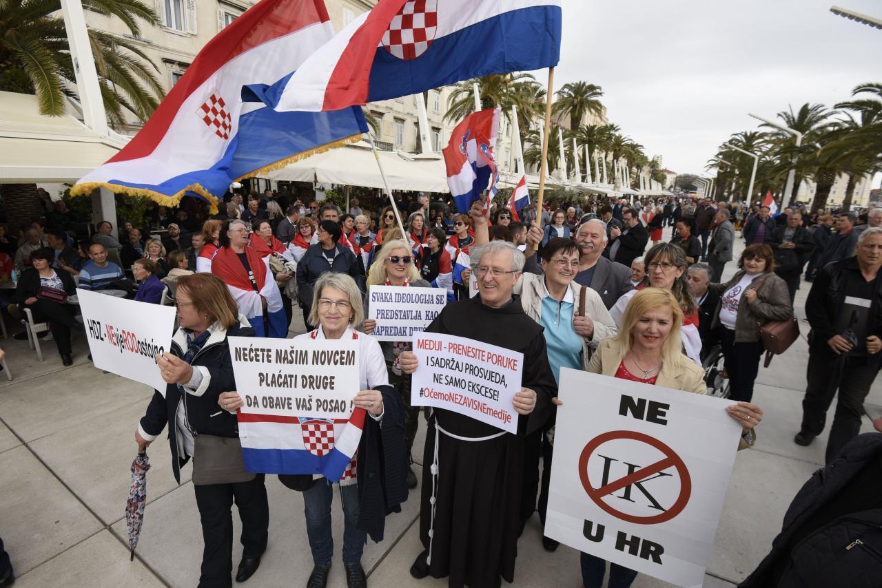 Protest Istanbuli konventsiooni vastu Splitis