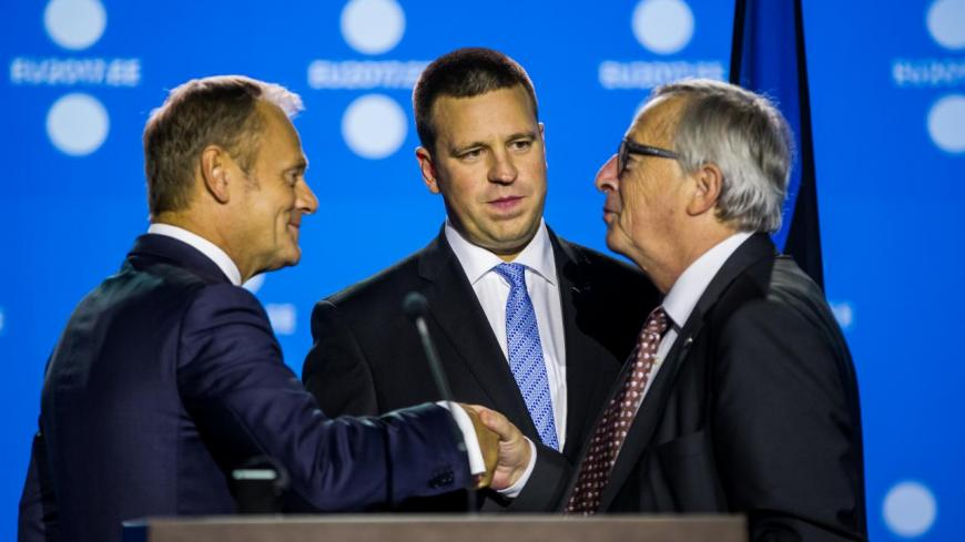 Donald Tusk, Jüri Ratas ja Jean-Claude Juncker.