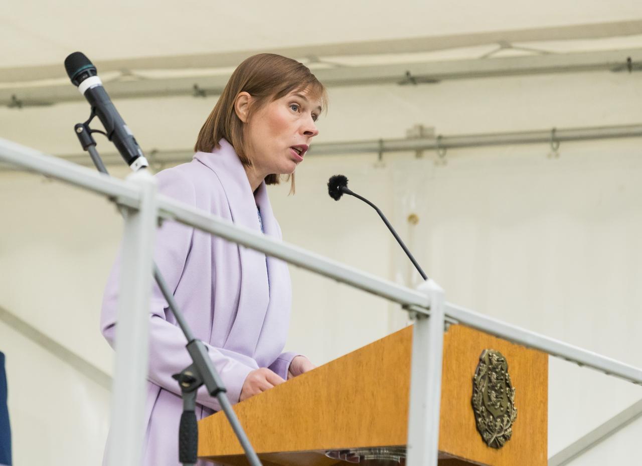 President Kaljulaid räägib oma kohtumistel edulugudest, mitte muredest.