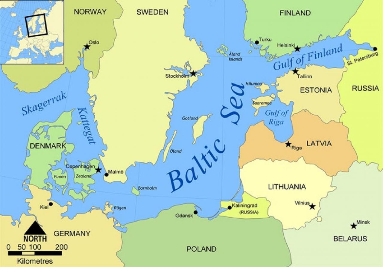 Gotland kaardil.