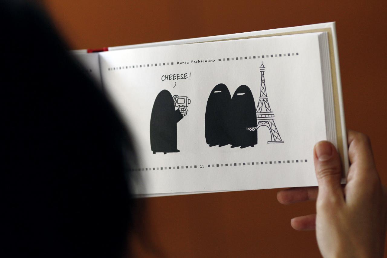 Karikatuur mosleminaistest.
