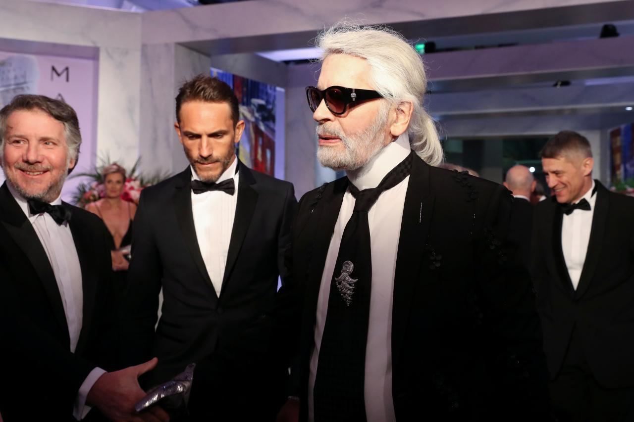 Moedisainer Karl Lagerfeld.