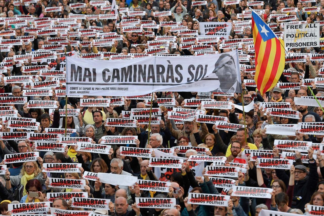 Kataloonia protest