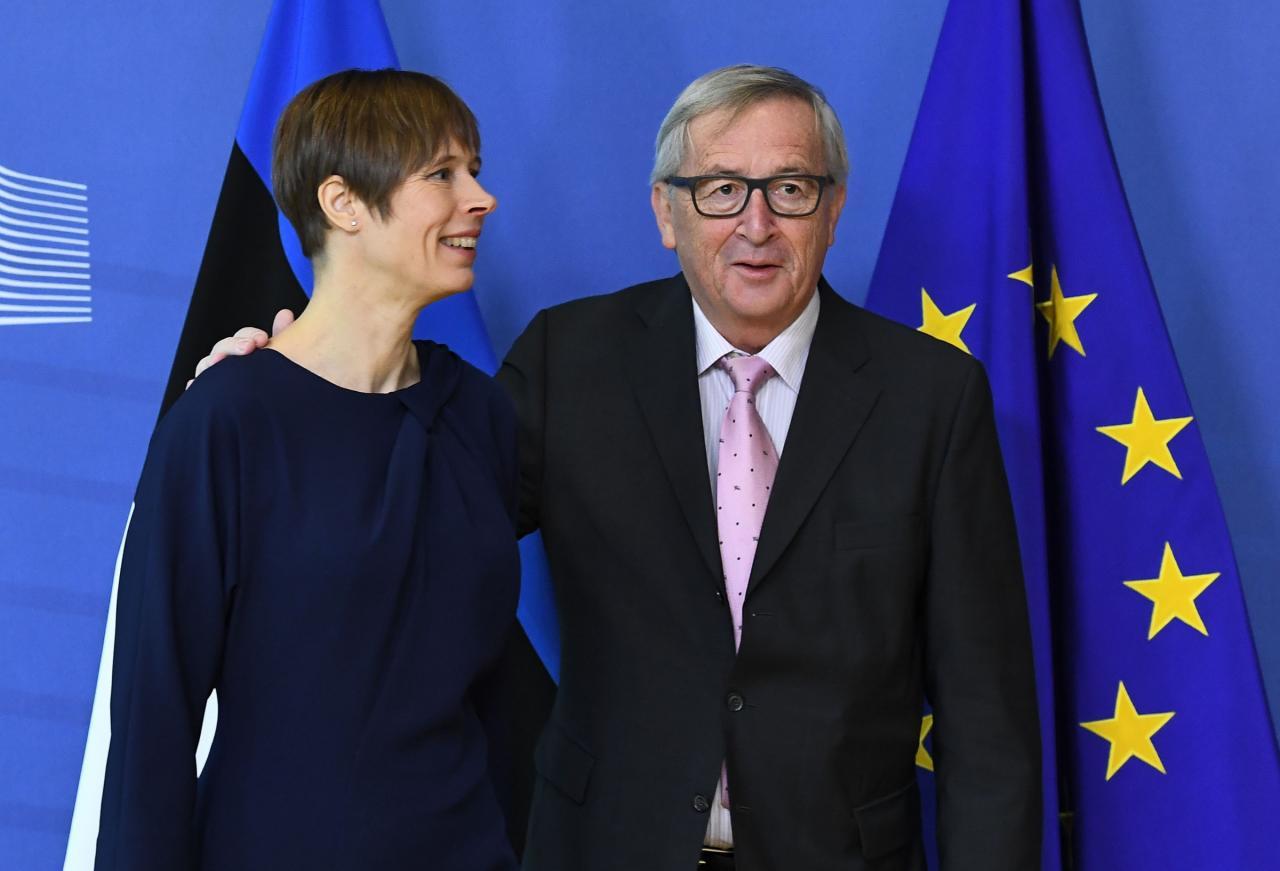 Eesti president Kersti Kaljulaid ja Euroopa Komisjoni president Jean-Claude Juncker.