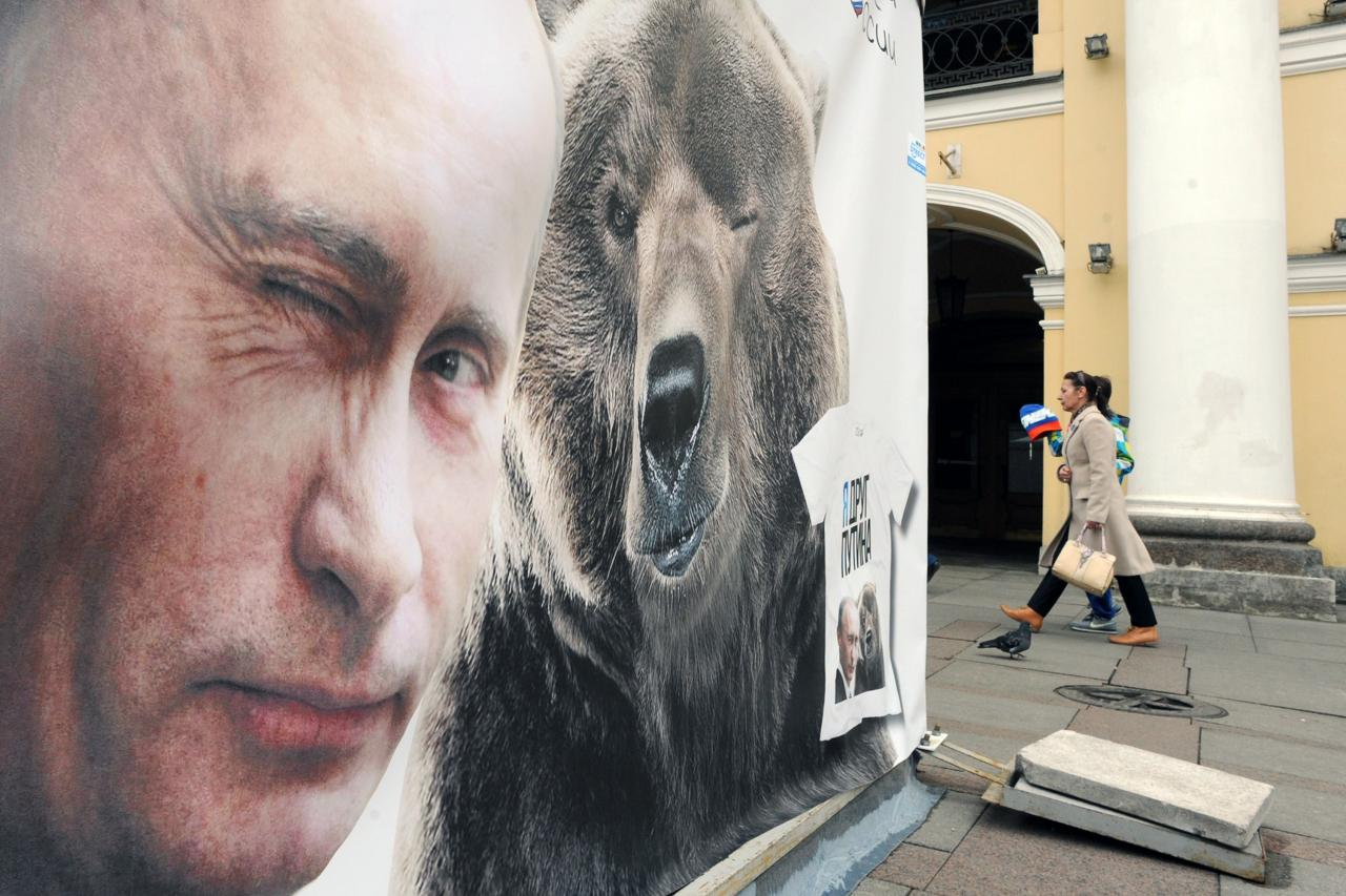 Putin ja Vene karu - Kremli mõjusümbolid.