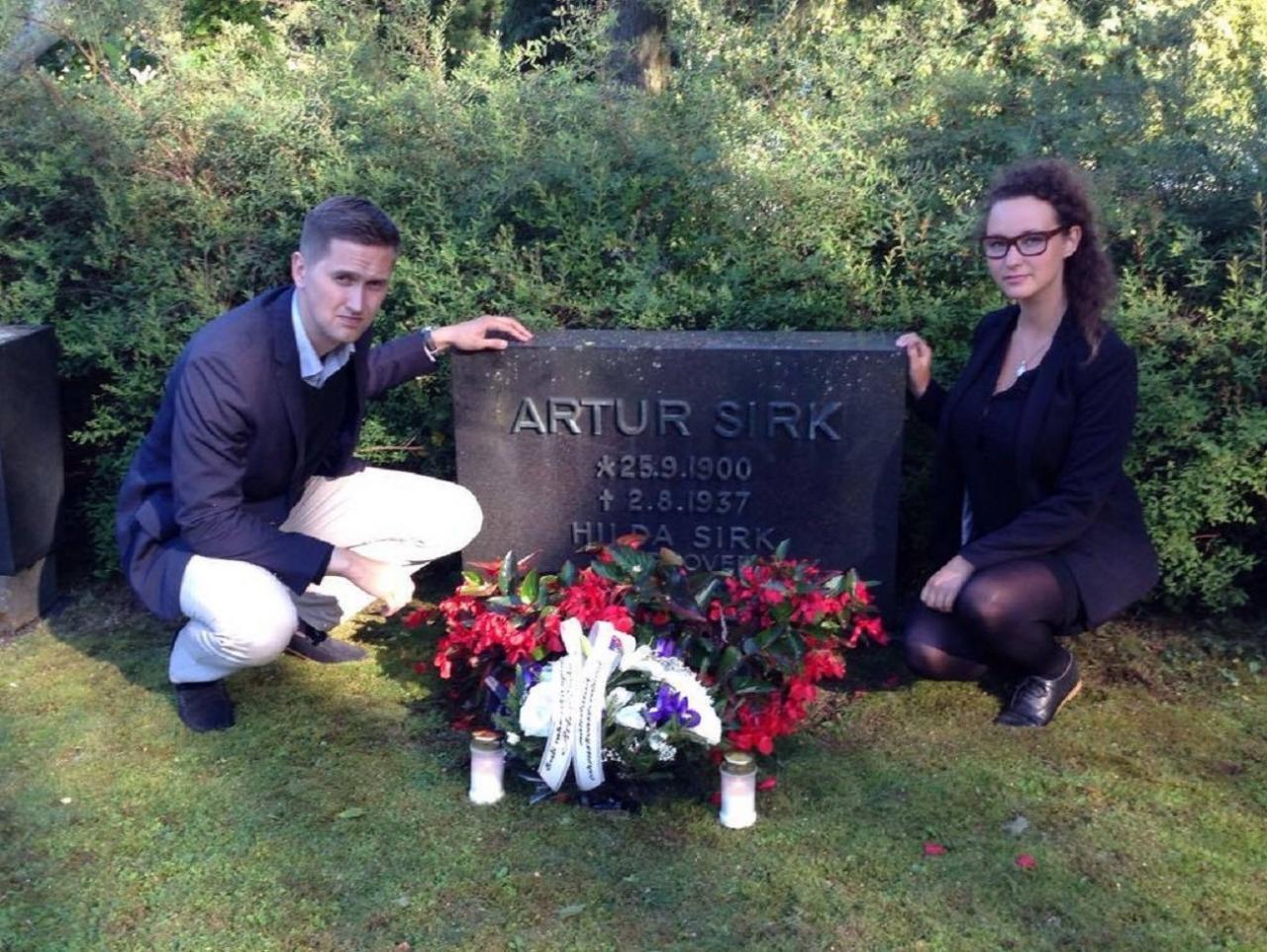 Artur Sirgu haud Helsingis.