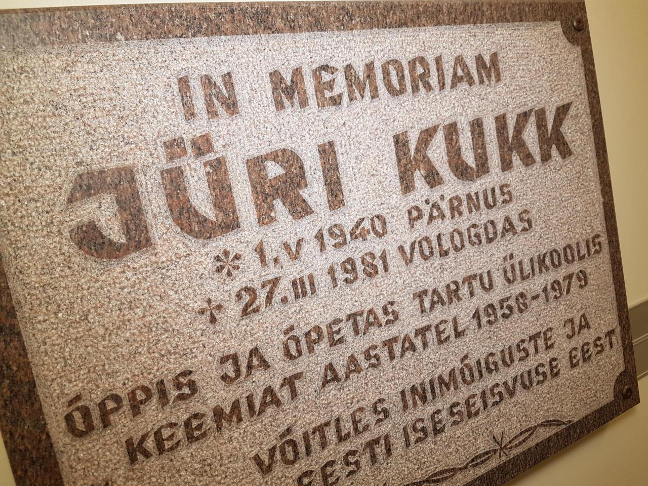 Tartu Ülikoolis mälestatakse keemiateadlast Jüri Kukke