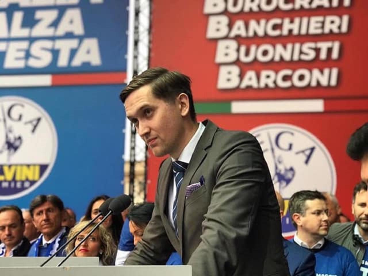 EKRE kandidaat Euroopa Parlamenti Jaak Madison pidas Milanos rahvusmeelsete miitingul kõne