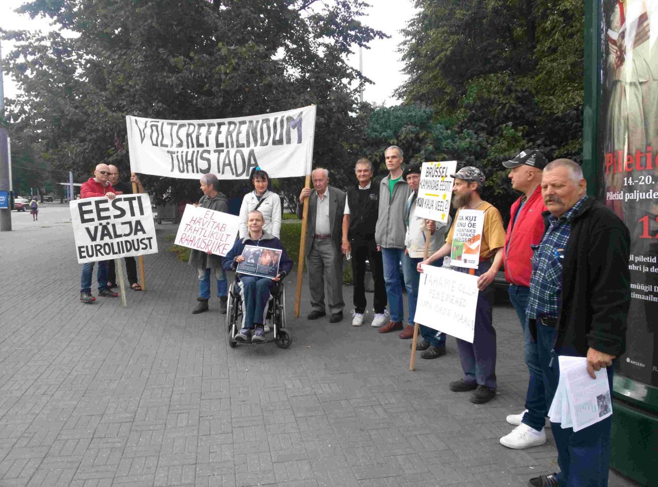 Rahvuslased korraldavad laupäeval Tallinnas Euroopa Liidu vastase piketi