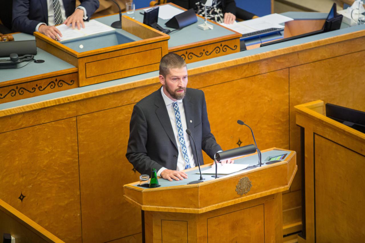 EKRE fraktsiooni esimees Siim Pohlak: tänane eelarve on sagelieilsete ja üleeilsete valikute tagajärg
